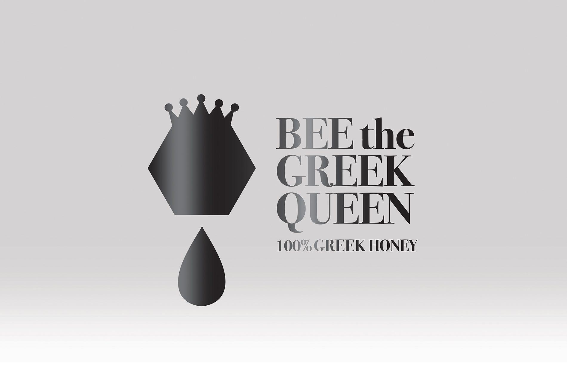 bee the GREEK queen logo